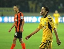 Metalist Kharkiv vs Shakhtar football match Royalty Free Stock Images