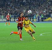 Metalist Kharkiv vs Shakhtar football match Royalty Free Stock Photo