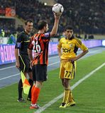Metalist Kharkiv vs Shakhtar football match Stock Photography