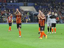 Metalist Kharkiv vs Shakhtar football match Royalty Free Stock Image