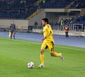 Metalist Kharkiv vs Volyn Lutsk football match Royalty Free Stock Photo