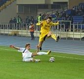 Metalist Kharkiv vs Volyn Lutsk football match Royalty Free Stock Images