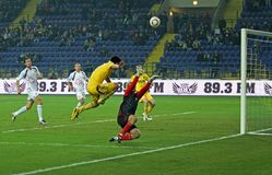 Metalist Kharkiv vs Volyn Lutsk football match Stock Images