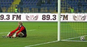 Metalist Kharkiv vs Volyn Lutsk football match Royalty Free Stock Photo