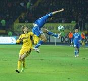 Metalist vs Dnipro soccer match Stock Photos