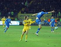 Metalist vs Dnipro soccer match Royalty Free Stock Image