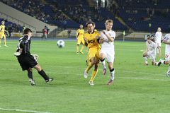 Metalist vs. Krivbass football match Royalty Free Stock Images