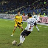 Metalist vs. Metallurg Donetsk football match Royalty Free Stock Images