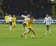 Metalist vs. Metallurg Donetsk football match Stock Images