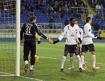 Metalist vs. Metallurg Donetsk football match Royalty Free Stock Photo