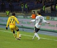 Metalist vs. Metallurg Donetsk football match Stock Image
