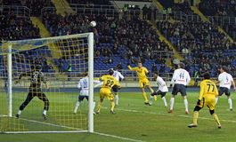 Metalist vs. Metallurg Donetsk football match Stock Photo