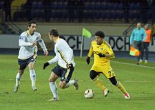 Metalist vs. Metallurg Donetsk football match Stock Photos