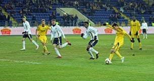 Metalist vs. Metallurg Donetsk football match Stock Photography