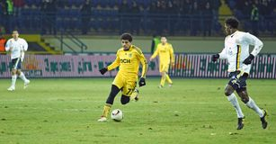 Metalist vs. Metallurg Donetsk football match Royalty Free Stock Photo