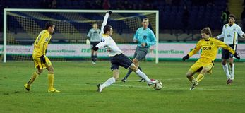 Metalist vs. Metallurg Donetsk football match Stock Photo