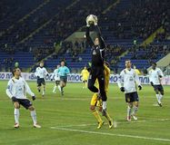 Metalist vs. Metallurg football match Stock Image