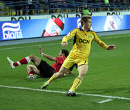 Metalist vs Metalurh soccer match Royalty Free Stock Image
