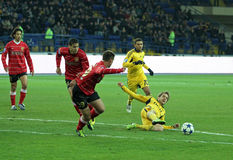 Metalist vs Metalurh soccer match Royalty Free Stock Photo