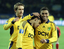 Metalist vs Metalurh soccer match Stock Images