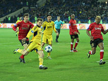 Metalist vs Metalurh soccer match Royalty Free Stock Photos