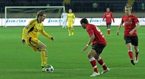 Metalist vs Metalurh Zaporizhya fotbollmatch royaltyfri fotografi