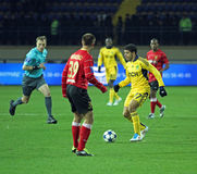 Metalist vs Metalurh Zaporizhya soccer match Royalty Free Stock Image