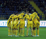 Metalist vs Metalurh Zaporizhya soccer match Royalty Free Stock Images