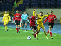 Metalist vs Metalurh Zaporizhya soccer match Stock Image