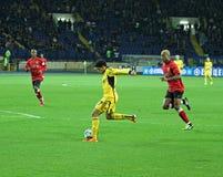 Metalist vs Metalurh Zaporizhya soccer match Stock Images