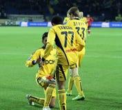 Metalist vs Metalurh Zaporizhya soccer match Royalty Free Stock Image