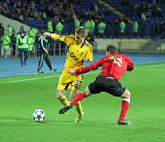 Metalist vs Metalurh Zaporizhya soccer match Royalty Free Stock Images