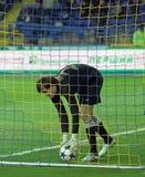 Metalist vs Metalurh Zaporizhya soccer match Stock Photos
