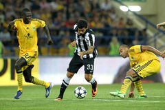 METALIST VS PAOK Royaltyfria Bilder