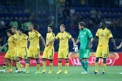 METALIST VS PAOK Royaltyfri Bild