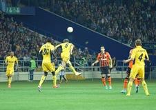 Metalist vs Shakhtar Donetsk football match Stock Images
