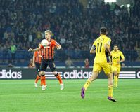 Metalist vs Shakhtar Donetsk football match Royalty Free Stock Photos