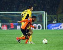 Metalist vs Shakhtar Donetsk football match Stock Photos