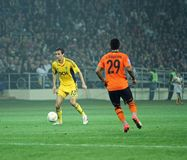 Metalist vs Shakhtar Donetsk football match Royalty Free Stock Image
