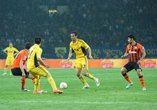 Metalist vs Shakhtar Donetsk football match Stock Photo