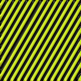 Metalized Black and Yellow Warning Stripes Royalty Free Stock Photography