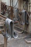 Metallögla för konkreta produkter Royaltyfri Fotografi