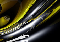 Metall amarelo líquido 04 Foto de Stock Royalty Free