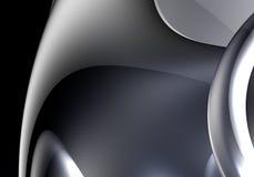 Metall&chrom d'argento Immagini Stock