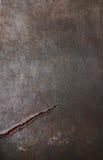 Metall-bacground geknackt oder Schnitt Stockfoto