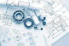 Metall Ball bearings. Industrial design stock images