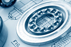 Metall Ball bearings. Industrial design royalty free stock images