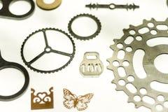 Metall bearbetade med maskin delar Arkivbilder