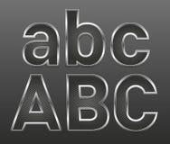 Metall bezeichnet großes und kleines mit Buchstaben lizenzfreie abbildung