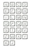 Metall blockt Alphabet Lizenzfreies Stockbild
